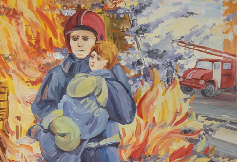 Постеры про пожарных